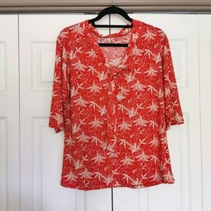 🇧🇷 Blouse red and white print medium